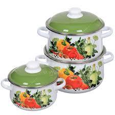 Набор <b>эмалированной</b> посуды СтальЭмаль Европейская кухня ...