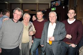 launch rd nov c aacute irde mhaigheo london enjoying the night were ltor pat mcnicholas tom beisty john maloney and john