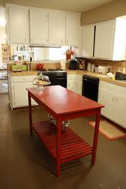 Portable Kitchen Island With Granite Top Kitchen Chic Red Portable Kitchen Island Inside Small Kitchen
