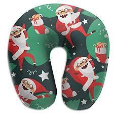 SARA NELL Memory Foam Neck <b>Pillow Lovely</b> Dancing <b>Santa</b> ...