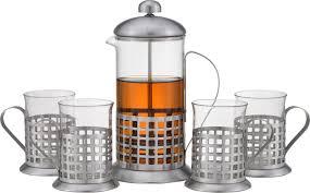 """Чайный <b>набор</b> Kelli """"Ностальгия"""" <b>френч</b>-пресс 500 мл и стаканы ..."""