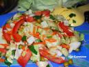 Салат капуста с болгарским перцем без масла