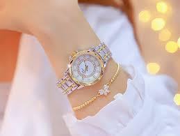 Diamond Women <b>Watch Luxury Brand</b> 2019 Rhinestone Elegant ...