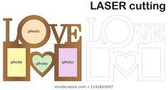 Heart shaped <b>frame</b> for <b>photos</b> for laser cutting. Collage of <b>photo</b> ...