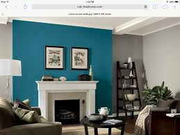 Teal And Grey Living Room Gray Walls With Teal Fireplace Accent Wall Iowa Home Pinterest
