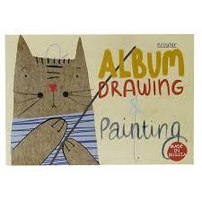 Альбом для <b>рисования Kroyter</b> 40л А4,склейка,блок 100гр, Мяу ...