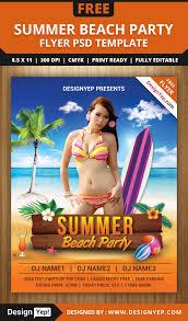 summer beach party flyer psd template designyep summer beach party flyer psd template