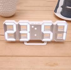 <b>Digital</b> Clock Wall Clock Modern Temperature USB <b>Electronic</b> Alarm ...