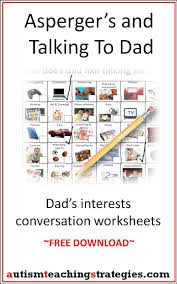 best images about s by autism teaching strategies i created two simple picture based worksheets to help kids asperger s and other autism spectrum disorders to start conversations their fathers