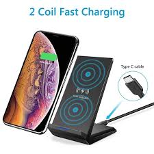 <b>Leehur</b> 15W Fast Wireless Charger Stand for IPhone 11 Pro XS ...