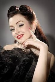 chic 1940s hair and makeup