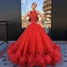 Compre 2020 <b>New Red Ball Gown</b> Princess Prom Dresses ...