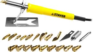 """<b>Прибор для выжигания STAYER</b> """"PROFESSIONAL"""", 3в1, с ..."""
