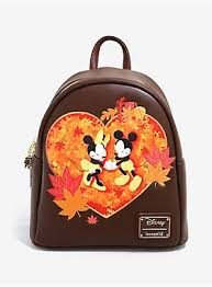 Loungefly <b>Disney Mickey</b> & <b>Minnie</b> Autumn Mini <b>Backpack</b> ...