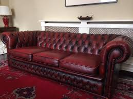 3 seater oxblood red leather chesterfield sofa for sale chesterfield sofa leather 3