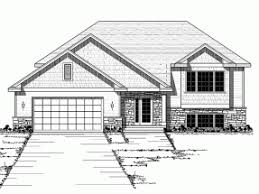 Split Level House Plans at eplans com   House Design PlansBLUEPRINT QUICKVIEW  middot  Front