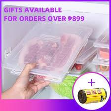 【Ready Stock】Kitchen <b>Rectangle Refrigerator</b> Plastic Fruit Food ...