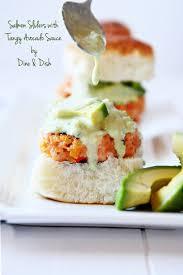 #CaAvoBlast Recipe: <b>Salmon Sliders</b> with Tangy Avocado Sauce ...