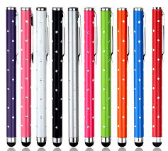 <b>10pcs</b>/<b>Lot</b> universal bling Metal Stylus <b>Touch Screen</b> Pen