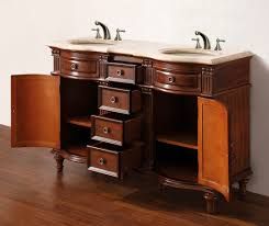 55 inch double sink bathroom vanity:   norwalk mw tr open