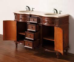 55 inch double sink bathroom vanity:   norwalk mw tr open