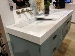 elegant white marble counter top combined ceramic trough sink and classic home office decor captivating bathroom vanity twin sink enlightened
