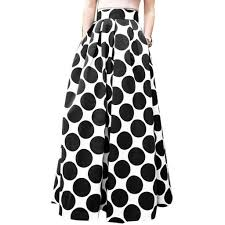 Fashion Party <b>Cocktail Summer Women</b> Dot Printed Skirt High Waist ...