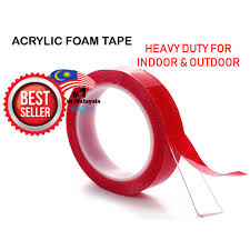 <b>Heavy</b> Duty Strong <b>Double Sided</b> Acrylic Foam <b>Tape</b> (Clear) 9mm x ...