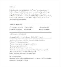 professional photographer resume sample photography resume template