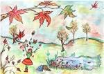 Рисунки на конкурс осень