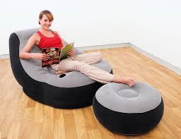 <b>Надувное кресло Intex</b> Ultra Lounge 99х130х76 см с пуфиком ...