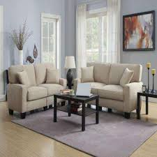 rta martinique collection polyester fabric 73 in w sofa in navarre beigeespresso beige furniture