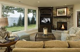 living room delightful when and how to place your tv in the corner of a room chic cozy living room furniture