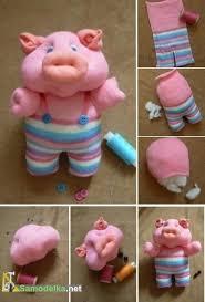 как сшить игрушки из <b>носков</b> - свинка (с изображениями) | Кукла ...