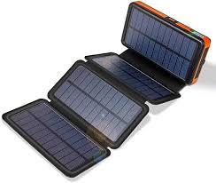 20000mAh Solar Charger with Dual 2.4A Outputs and ... - Amazon.com