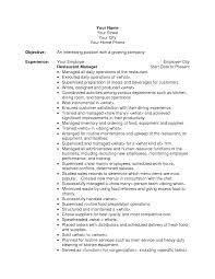 general manager restaurant resume sample restaurant resume general manager restaurant resume sample