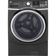Ge Profile Washing Machine Repair Ge 45 Cu Ft Front Load Washer With Steam In Gray Energy Star