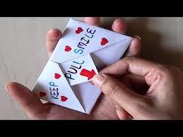 <b>DIY</b> | Pull Tab Origami Envelope Card | <b>Letter</b> Folding Origami