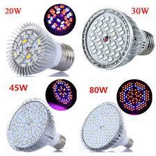 New 18/30/45/80W <b>LED Grow</b> Light <b>E27</b> Lamp Bulb for Plant ...
