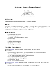 restaurant manager resume example resumecareer info restaurant