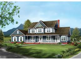 Bennington Country Farmhouse Plan D    House Plans and MoreFarmhouse Style Two Story Has Inviting Covered Front Porch