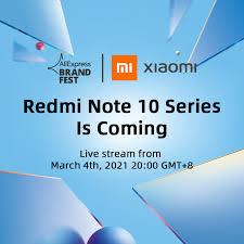 [World Premiere] <b>Global Version Xiaomi Redmi</b> Note 10 Series ...