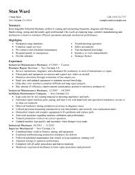 building industrial maintenance mechanic resume building x cover gallery of maintenance mechanic resume
