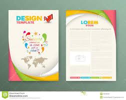 brochure flyer design layout template success stock vector brochure flyer design layout template success