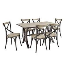 home sonata decor black piece dining  piece industrial reclaimed solid wood dining set we furniturehttp