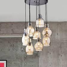 mariana cognac glass cluster pendant in antique black finish chandelier pendant lighting