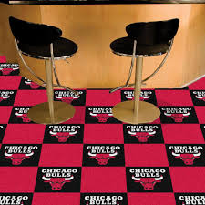 room carpet tiles red fanmats nba chicago bulls black and red pattern  in x  in carpet tile
