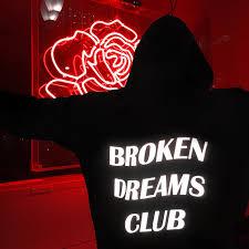Клубная Толстовка Broken Dreams черная Tumblr вдохновленная ...