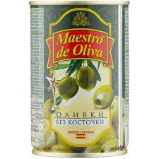 Купить оливки <b>Maestro De Oliva Оливки</b> без косточки, жестяная ...