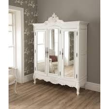 white wood wardrobe armoire shabby chic bedroom. la rochelle shabby chic antique style wardrobe white wood armoire bedroom r